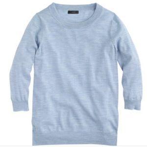 J.Crew Merino Wool Tippi Sweater Blue White